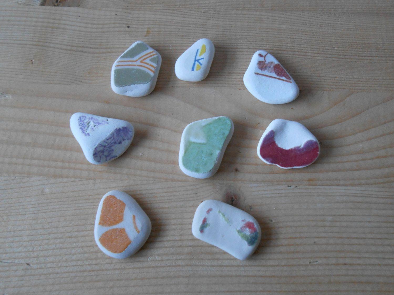 Genuine sea pottery#Colorful small beach pottery#fantasy mix clear Sea pottery#8 pieces white sea pottery#jewelry#crafts#art    lotto240 di lepropostedimari su Etsy