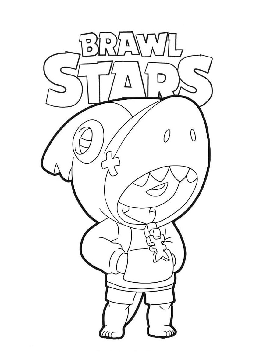 Shark Leon High Quality Free Coloring Page From The Category Brawl Stars More Printable Pictures On Our Website Babyhou