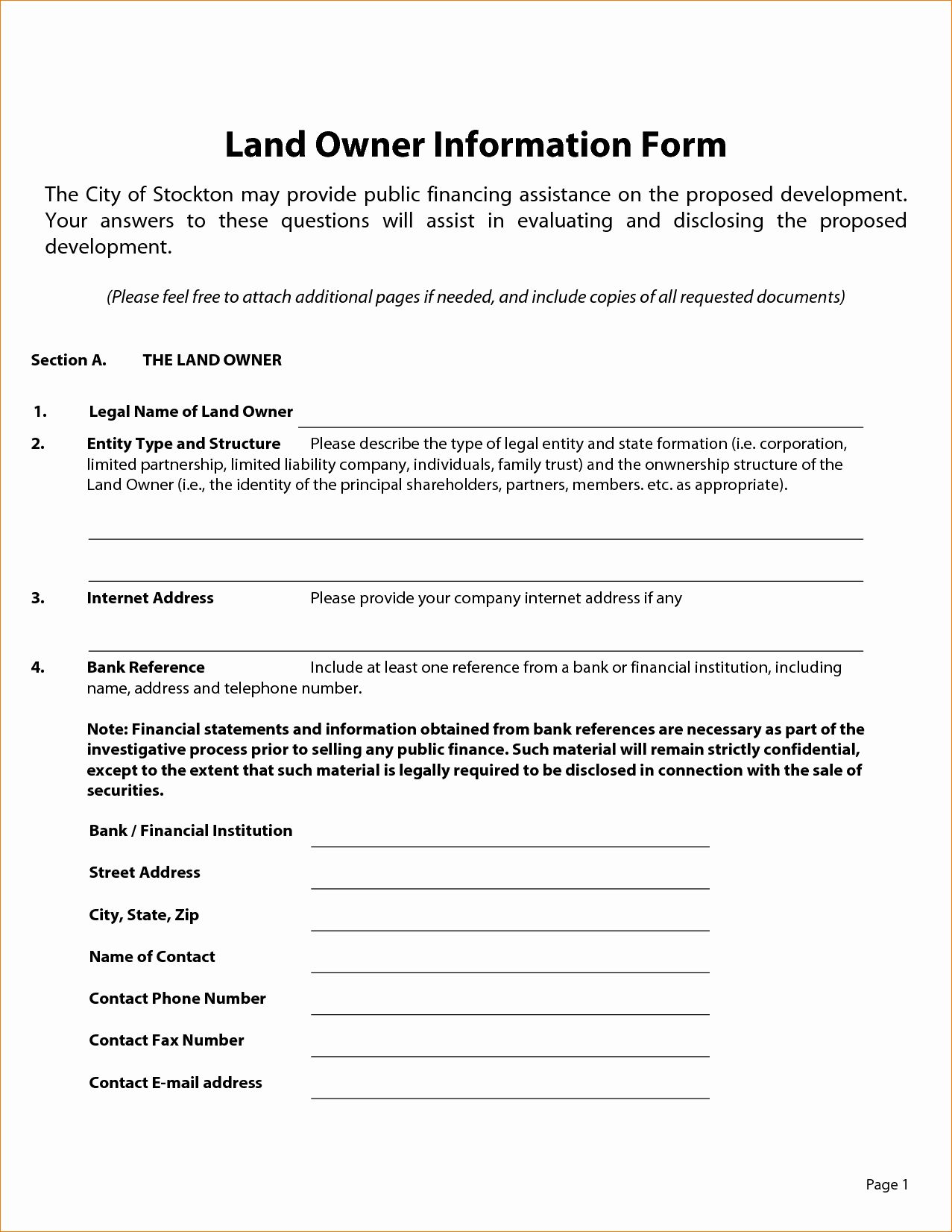 Owner Financed Land Contract Template Best Of Owner ...