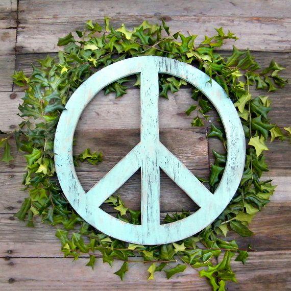 Outdoor Boho Art Glass Suncatcher Mothers Day Gift Yard Art Glass Hippie Art Peace Sign Wall Art Glass Peace Sign Garden Art Glass
