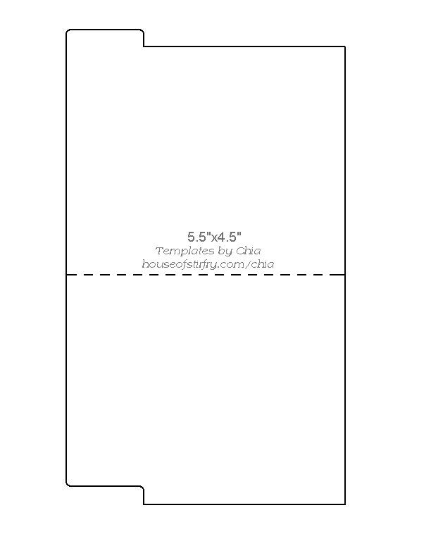 SMALL FILE FOLDER TEMPLATE #1 Chiau0027s Rubberstamp Art Templates - sample small envelope template