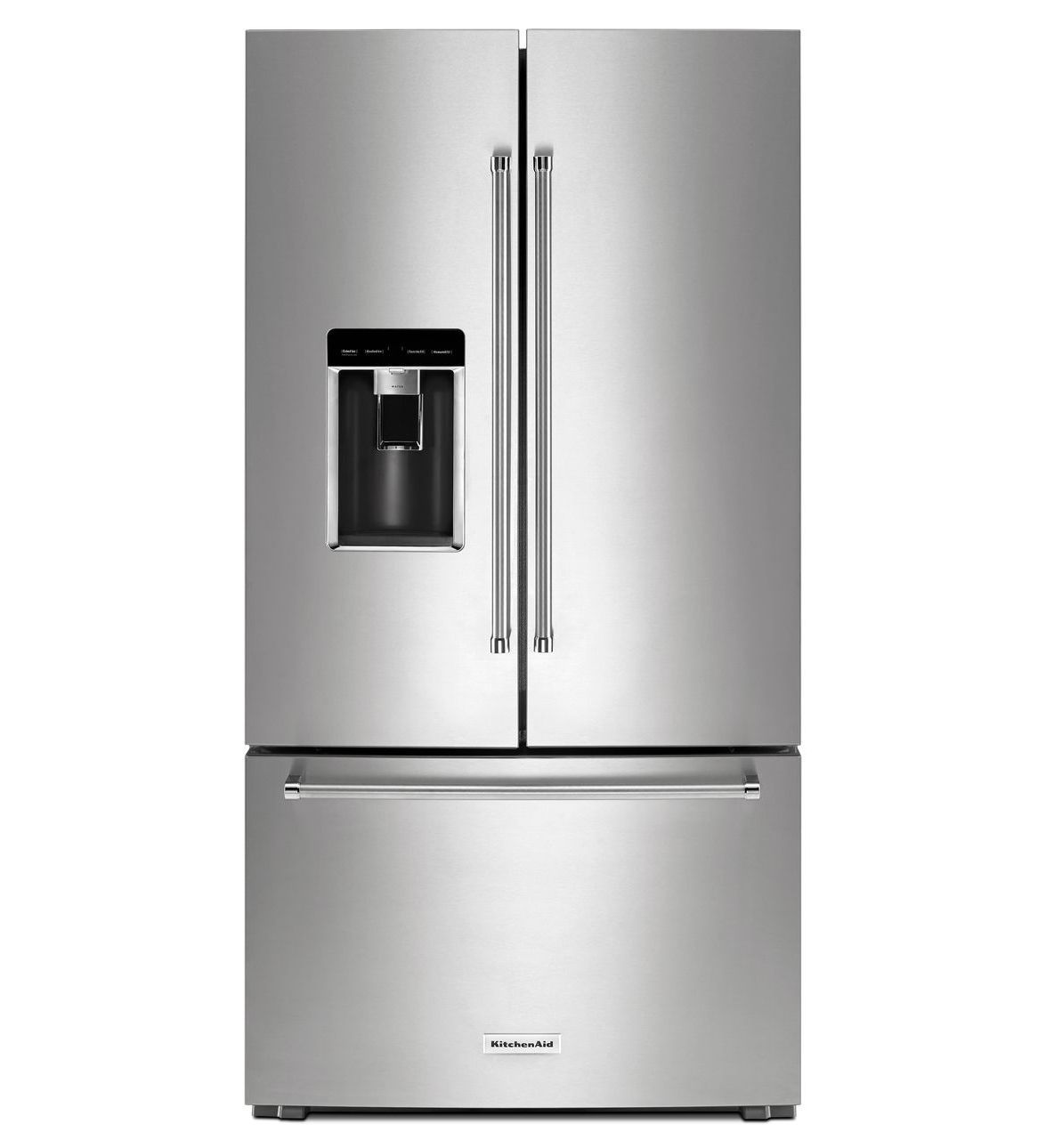 kitchenaid black stainless french door refrigerator