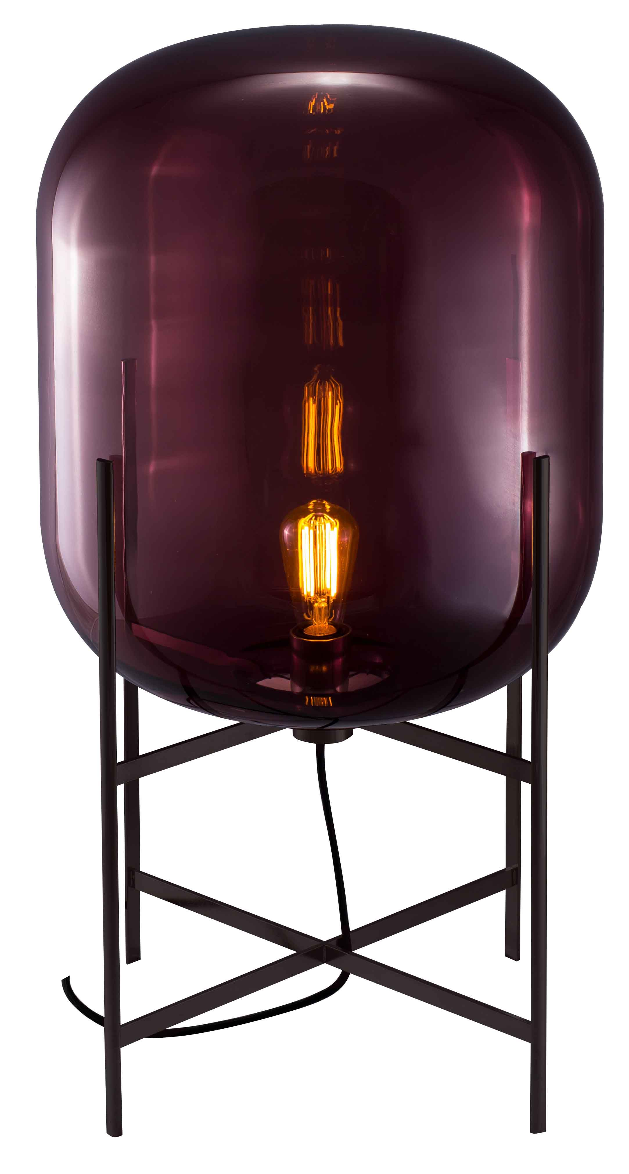 Oda table light in aubergine shade with chrome base furniture oda table light in aubergine shade with chrome base geotapseo Choice Image
