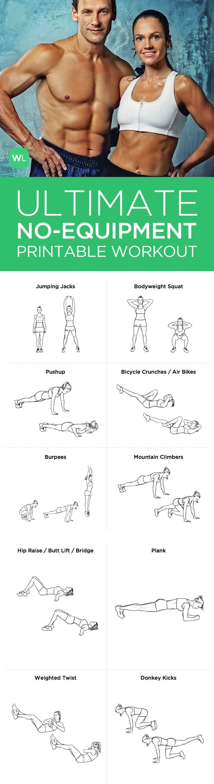Need A Good Full Body Home Based Workout That Doesnt Require Gym Equipment Try This Intense Two Page Bodyweight You Can Do Anywhere