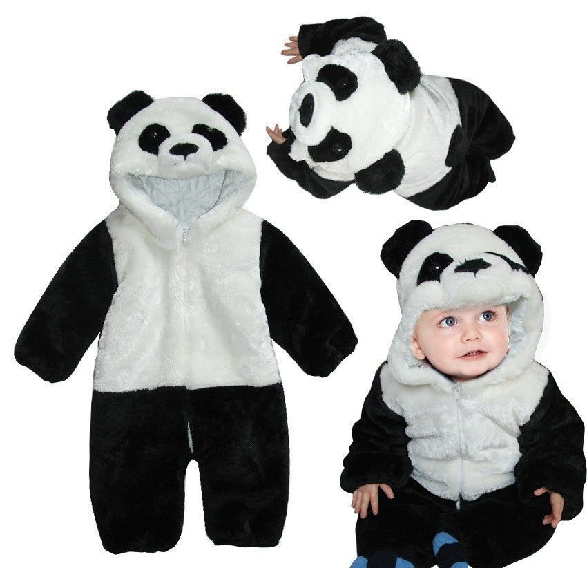 b3d4bf056 Baby Kids Toddler Panda Animal Bodysuit Jumpsuit Romper Outfit One ...