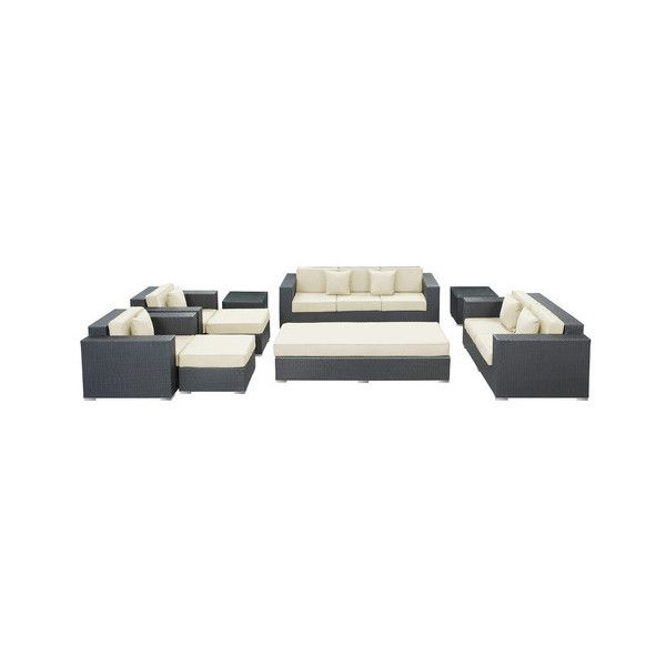Eclipse 9-Piece Outdoor Patio Sofa Set - Modern - Outdoor Lounge ...