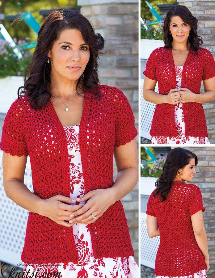 Free Pattern] Beautiful Vibrant Summer Jacket | Pinterest | Häkeln ...