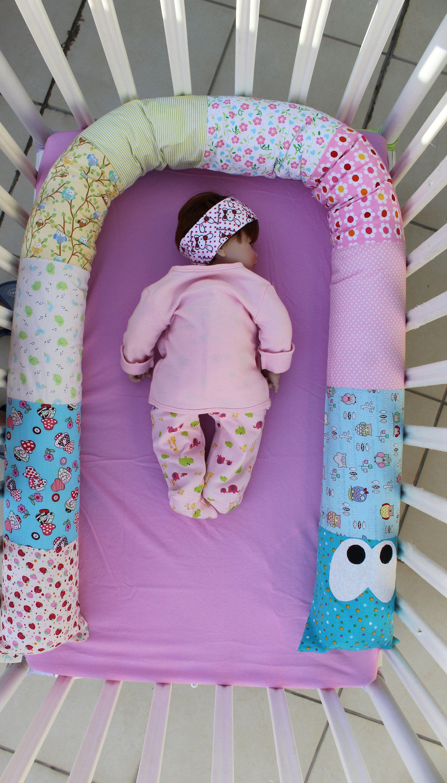 handmade baby snake bumper pillow for