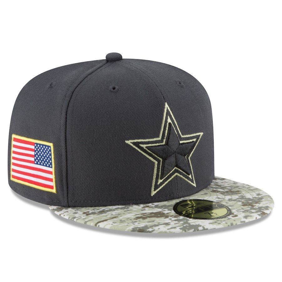 e93572748a4 Men s Dallas Cowboys New Era Camo Salute To Service Sideline Official  59FIFTY Fitted Hat