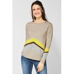 Photo of Cecil – Pullover mit ZickZack Muster in Alabaster Beige Melange Cecil