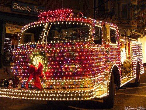 Christmas fire truck - Christmas Fire Truck Fire Holidays! Pinterest Christmas