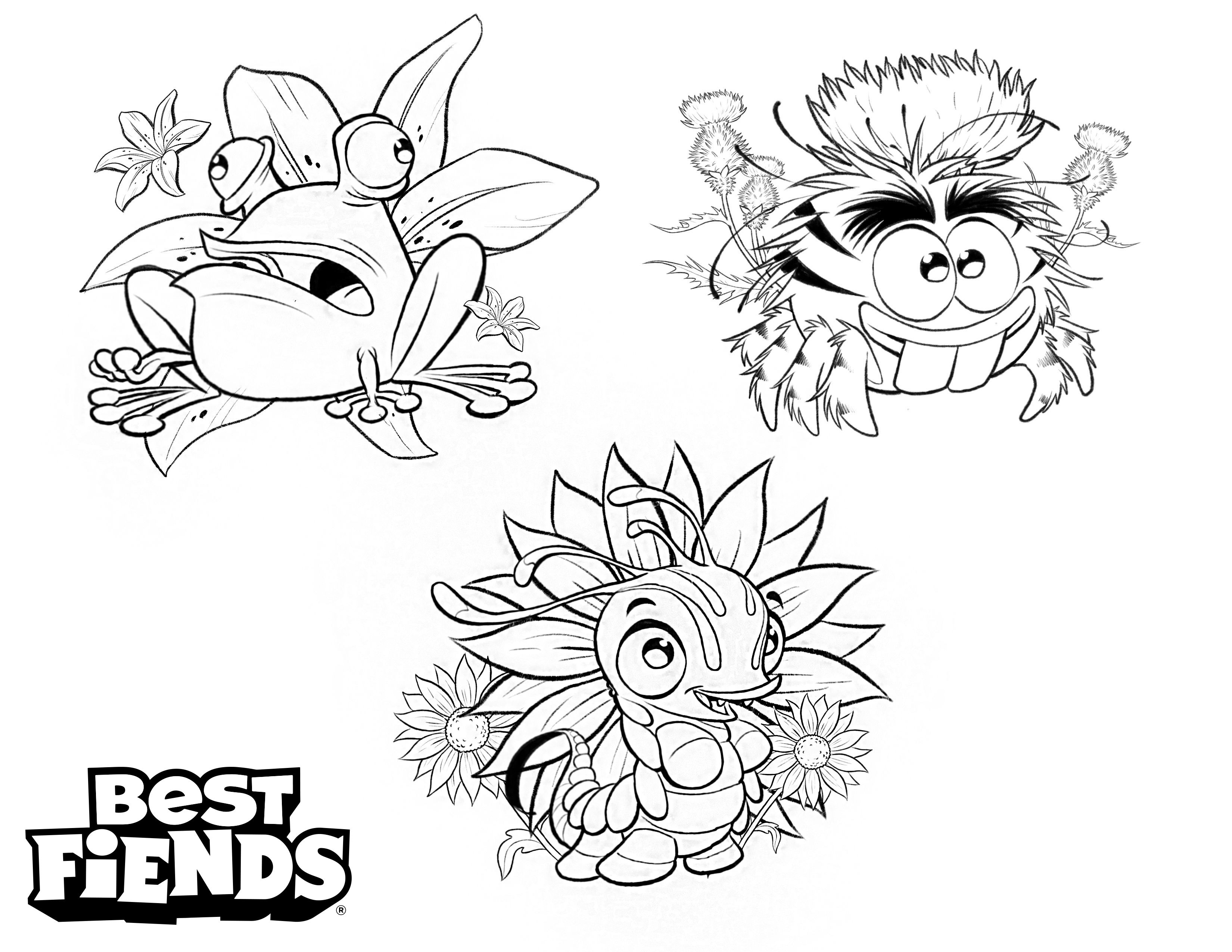 Best Fiends FLOWER POWER! Can you color these Fiends in
