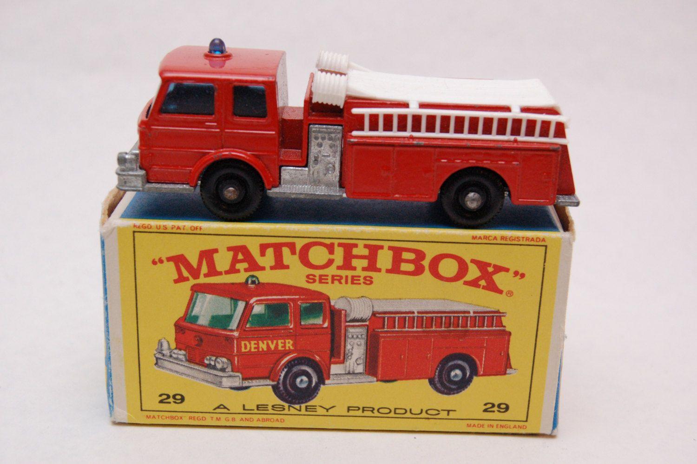 No.29 Fire Pumper Truck w/Original Box by Matchbox Lesney