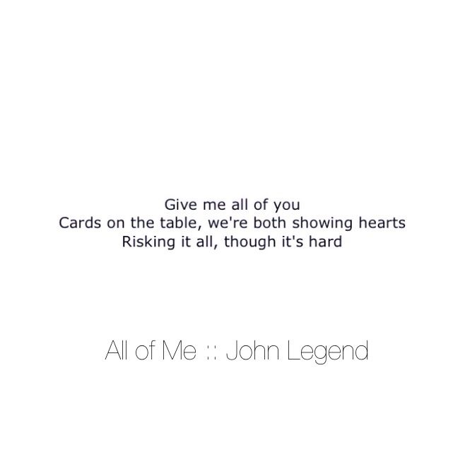 Cards On The Table Both Showing Hearts Johnlegend Allofme