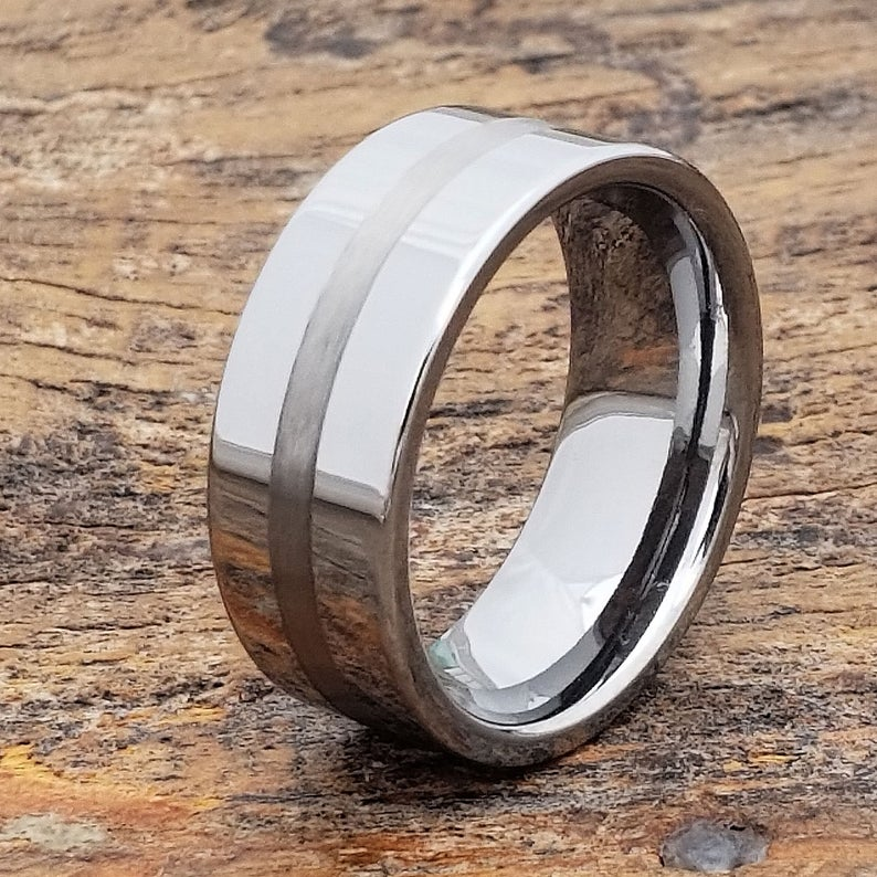 Unique Tungsten Ring Mens Wedding Band Men S Ring Etsy Rings Mens Wedding Bands Mens Wedding Bands Mens Wedding Bands Unique