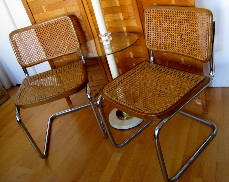 Marcel breuer cesca chairs model b32 cantilever