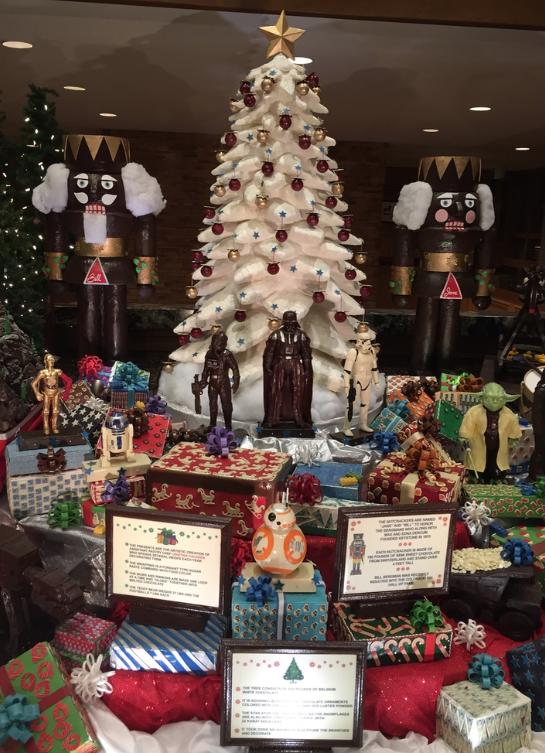 Chocolate display at Keystone spa. http//www