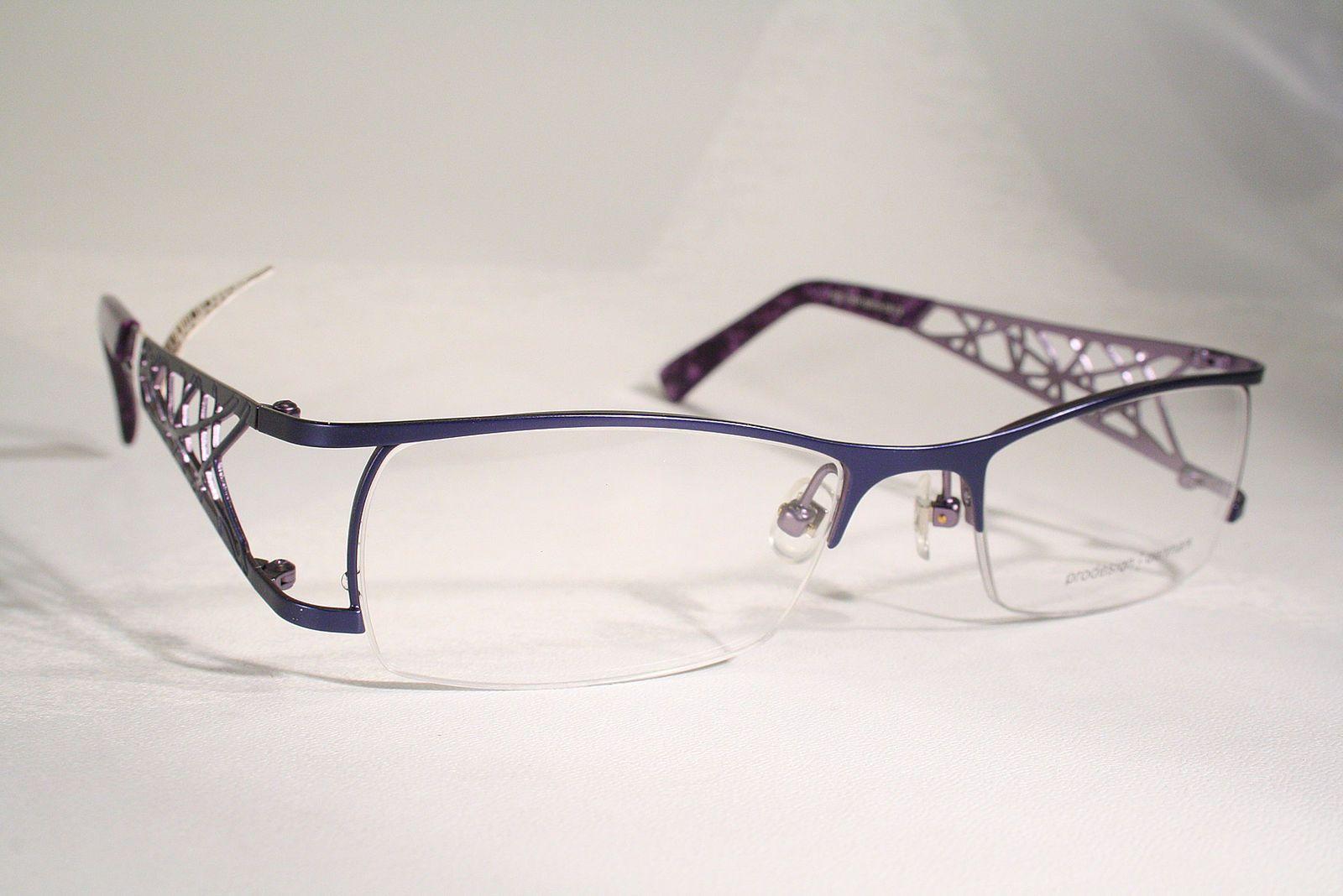 New PRODESIGN 5123 Women\'s Purple Lilac Violet Semi Rimless Eyeglass ...