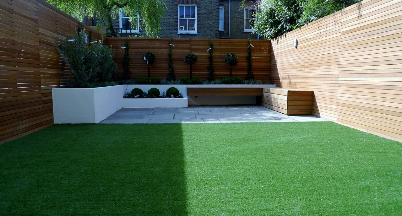 Artificial Grass Garden Designs find this pin and more on inspiring ideas why artificial grass Modern Garden Design Courtyard Easy Lawn Grass Cedar