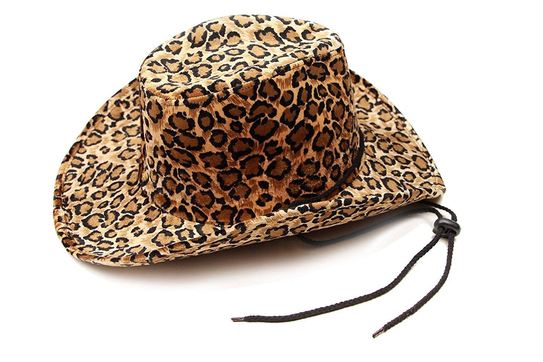 222c16a7694 Women s Cowboy Hat- Cowgirl Hat by Captain - Felt Cowboy Hats For Women  (Leopard Print) - Leopard Print - CS18955W397 - Hats   Caps