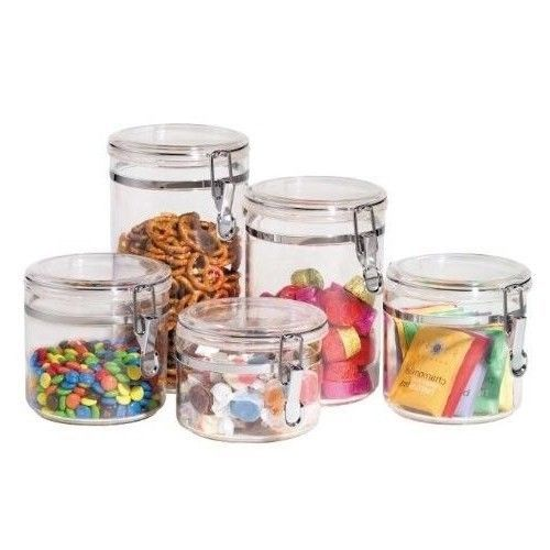 #Clear Kitchen #Canister Set #Food #Storage #Containers #BPA #Free  sc 1 st  Pinterest & Clear Kitchen Canister Set Food Storage Containers BPA Free Airtight ...