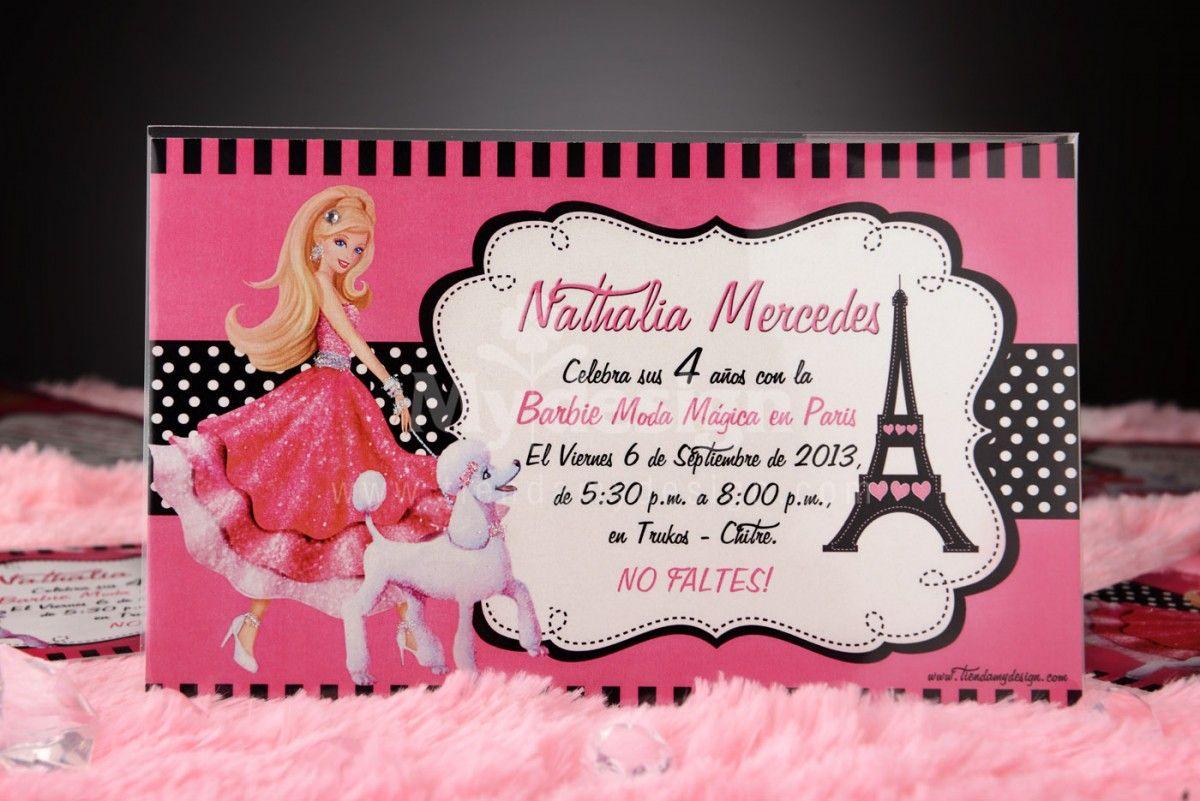 Invitaciones De Cumpleaños De Barbie Para Imprimir 11 en HD Gratis u2026 Pinteres u2026