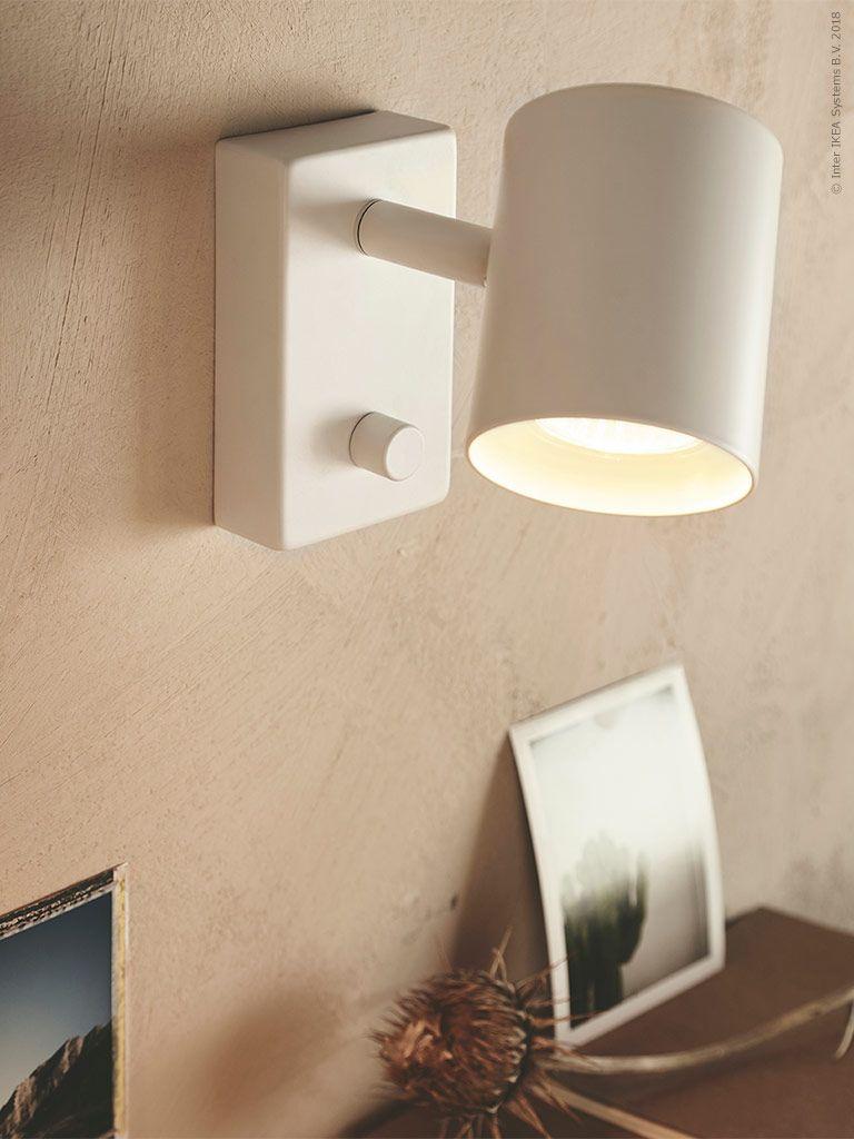 NYMÅNE Vägg läslampa, vit IKEA | Ikea, Vägg, Belysning