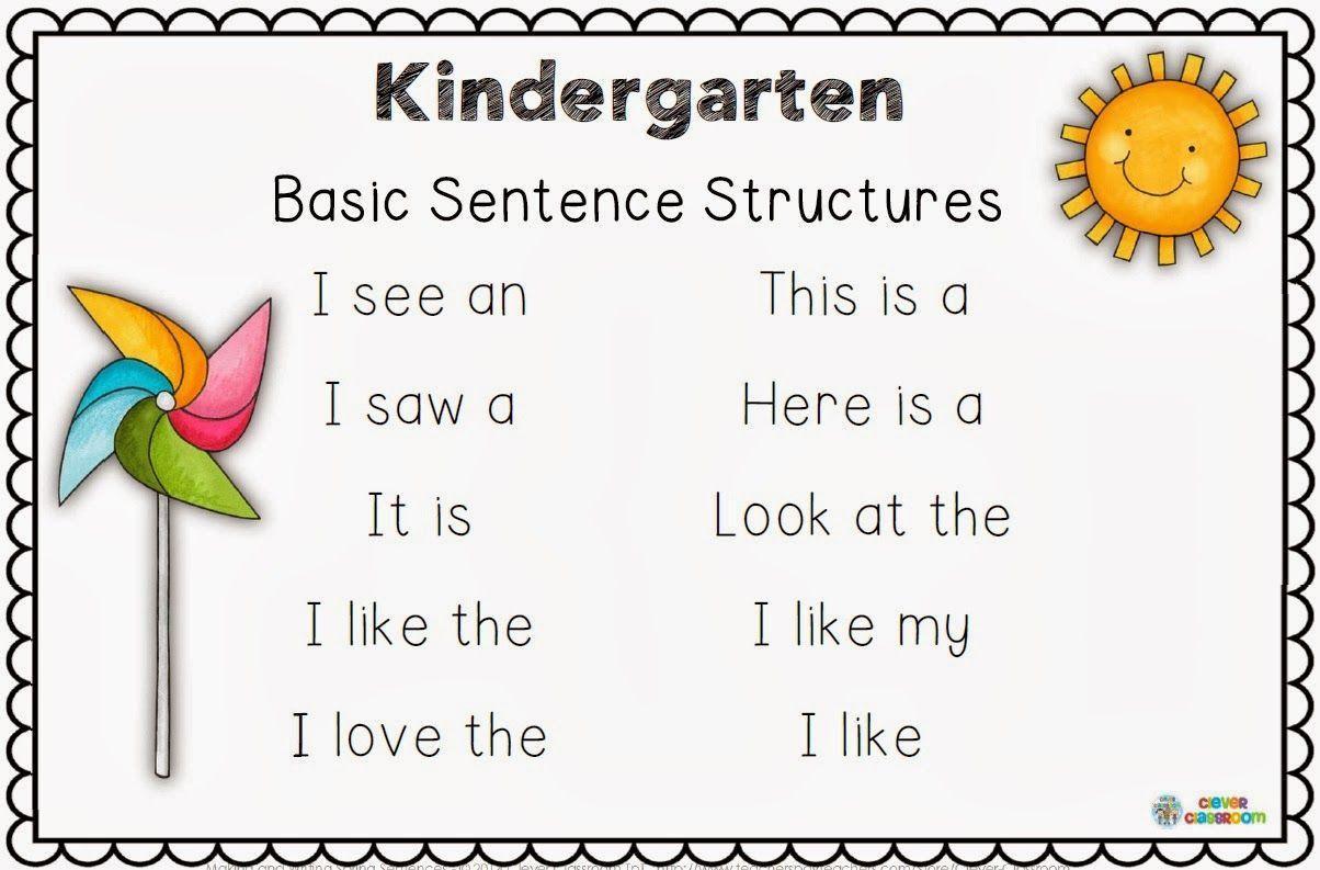 3 Simple Sentences Kindergarten English Worksheets In