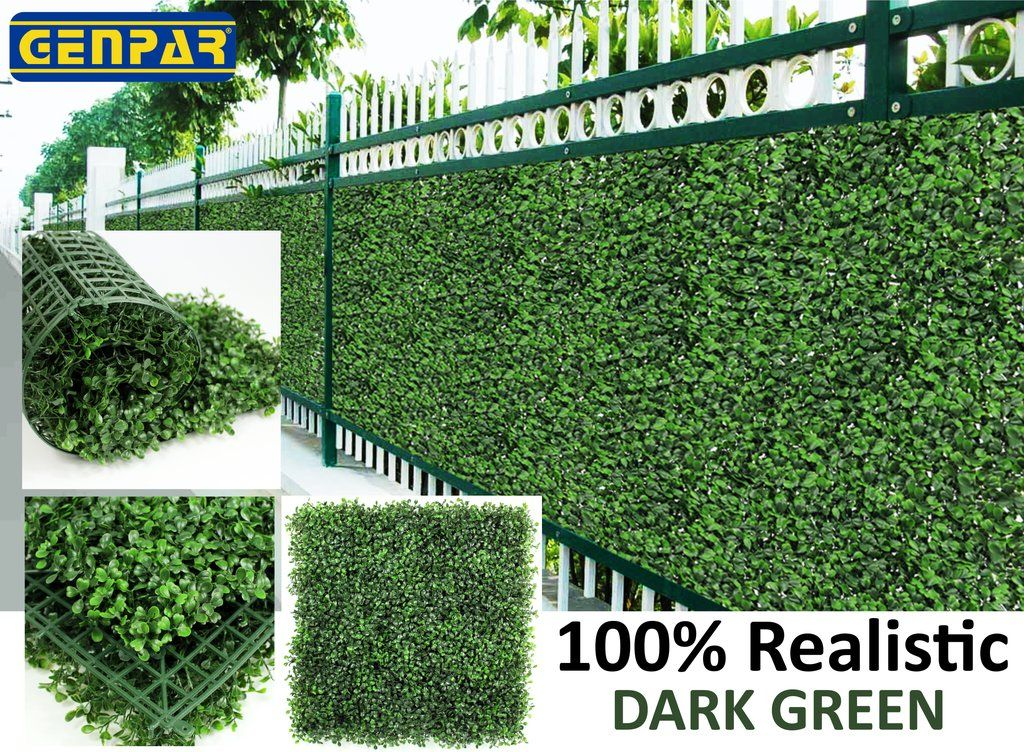 Genpar Artificial Boxwood Hedge Covers 33 Sq Feet 12 Panels 20 Artificial Vertical Garden Artificial Plants Outdoor Artificial Boxwood