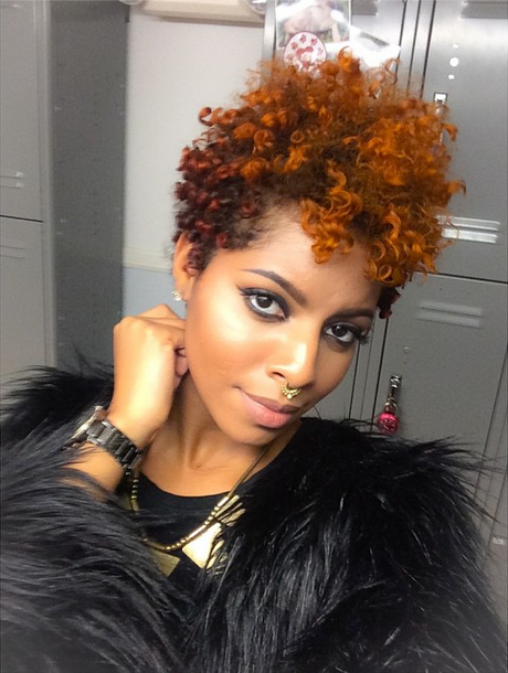 The Color The Septum Short Natural Hair Styles Hair Styles Short Hair Styles