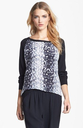 Joie 'Malena B.' Mixed Media Sweater NAS: $159.90 After Sale: $244.00