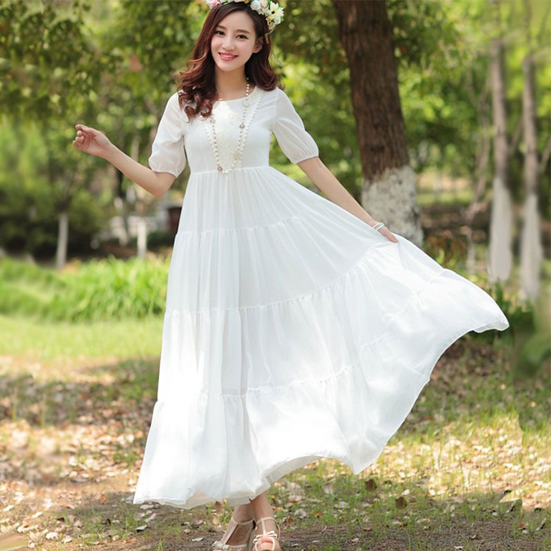 boho lace dress long