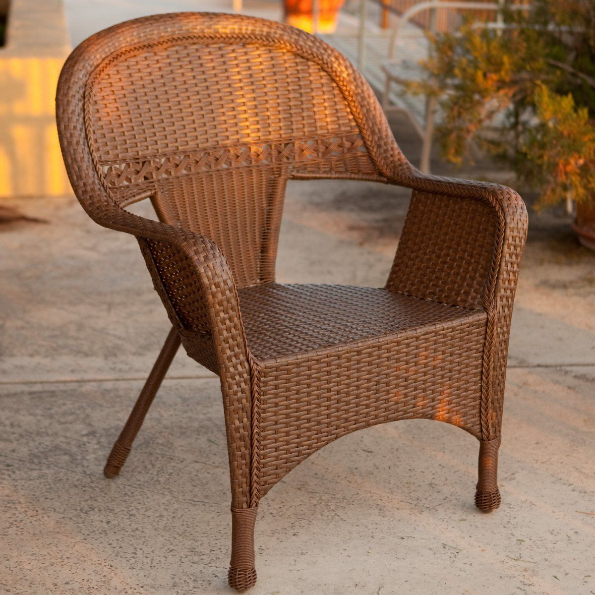 Key west allweather wicker lounge chair chairs cushions and