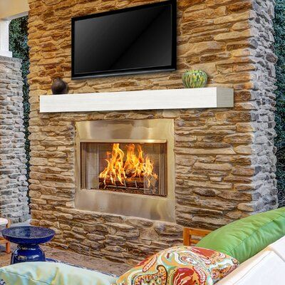 Pearl Mantels Zachary Non Combustible Fireplace Shelf Mantel