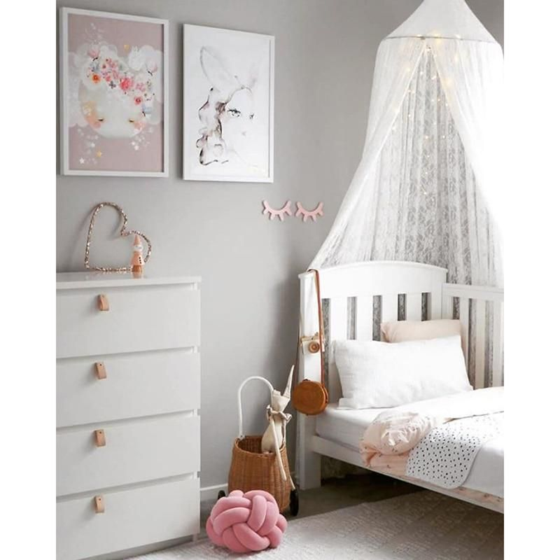 nursery decorations Kids Princess Play Tents Cotton Mosquito Net Children Bed Canopy Round Dome Grey Room Decoration for Baby