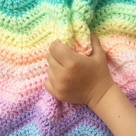 Unicorn Rainbow Ripple Baby Blanket Crochetripple Rippleblanket Attic24 Childsblanket Crochetbl Crochet Blanket Rainbow Rainbow Crochet Crochet Scarf Easy
