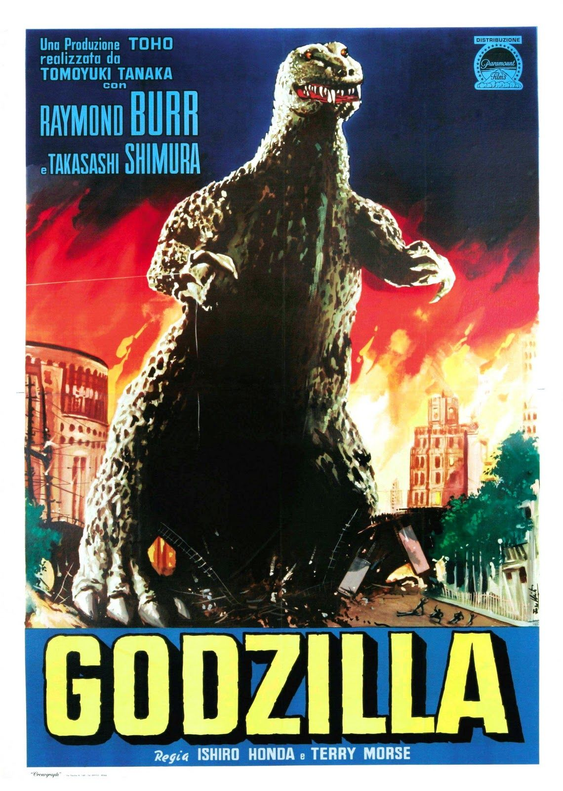 Godzilla 1954 Classic Horror Movies Posters Movie Posters