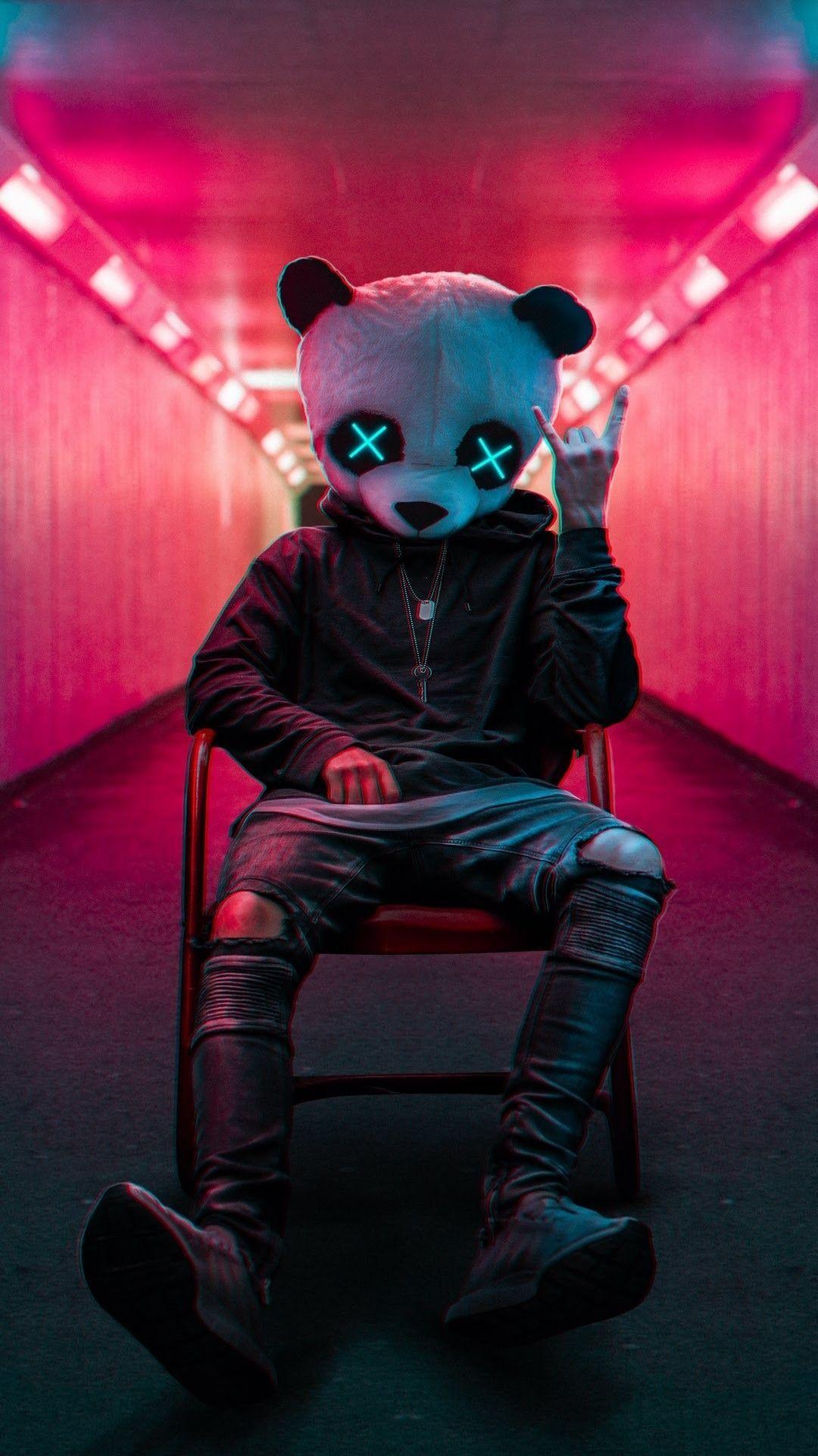 Wallpapers.black.k in 2020 Panda wallpapers, Cool