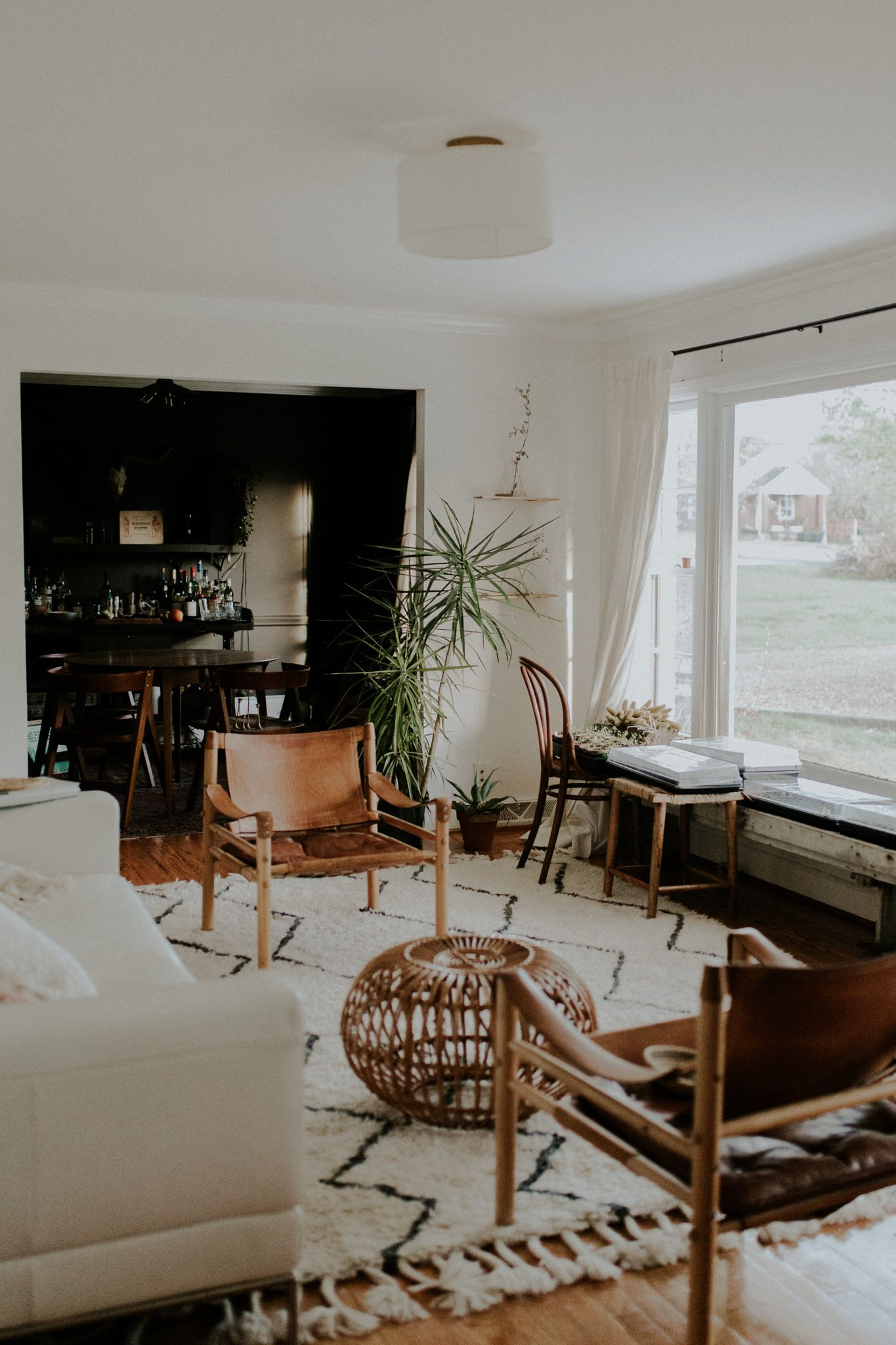 Moroco Styled Mid Century Modern Bohemian Living Room Magnolia