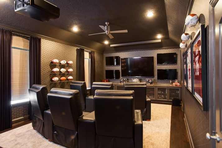 Home Theatre By Laura U Interior Design Furture Home Decor