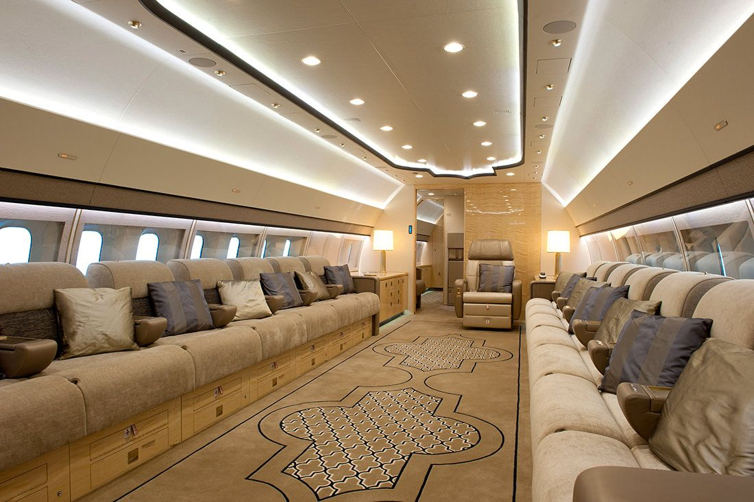 Boeing Business Jets unveiled the VIP interiors of the BBJ 3 - to discover  : www