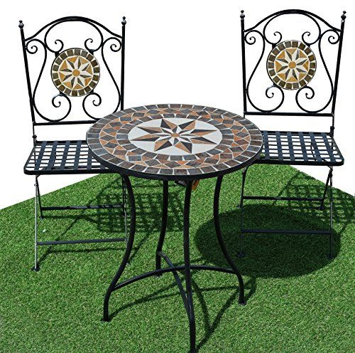 3pc Costa Mosaic Bistro Set Alfesco Dining garden chairs and table set outdoor Marko Outdoor   sc 1 st  Pinterest & 3pc Costa Mosaic Bistro Set Alfesco Dining garden chairs and table ...