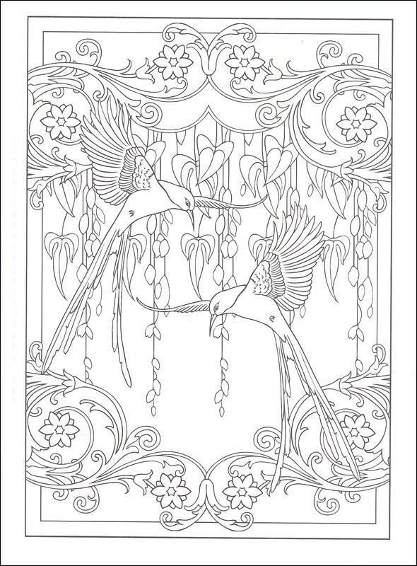 - Art Nouveau Animal Designs - Coloring Book Zone Designs Coloring Books,  Coloring Pages, Coloring Books