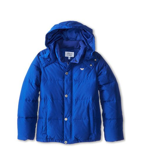 Armani Junior Hooded Puffer Coat (Toddler/Little Kids/Big Kids)