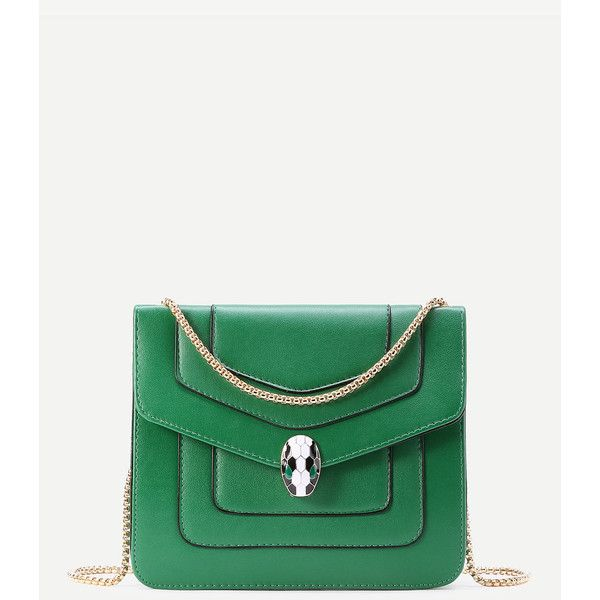 Snake Head Detail Crossbody Bag With Chain ($30) ❤ liked on Polyvore featuring bags, handbags, shoulder bags, white cross body handbags, cross-body handbag, chain purse, crossbody shoulder bag and white cross body purse
