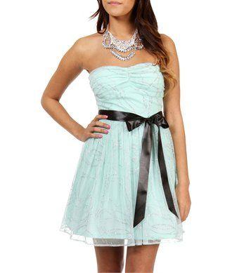Myrtle- Mint Prom Dress