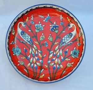 Armenian - Large hand painted ceramic bowls with decorative birds and flowers  sc 1 st  Pinterest & Armenian - Large hand painted ceramic bowls with decorative birds ...