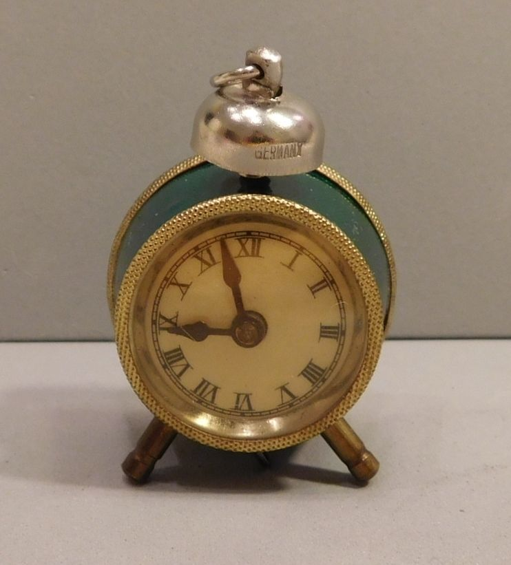 Collectible Vintage Alarm Clock Tape Measure Hands Move Germany