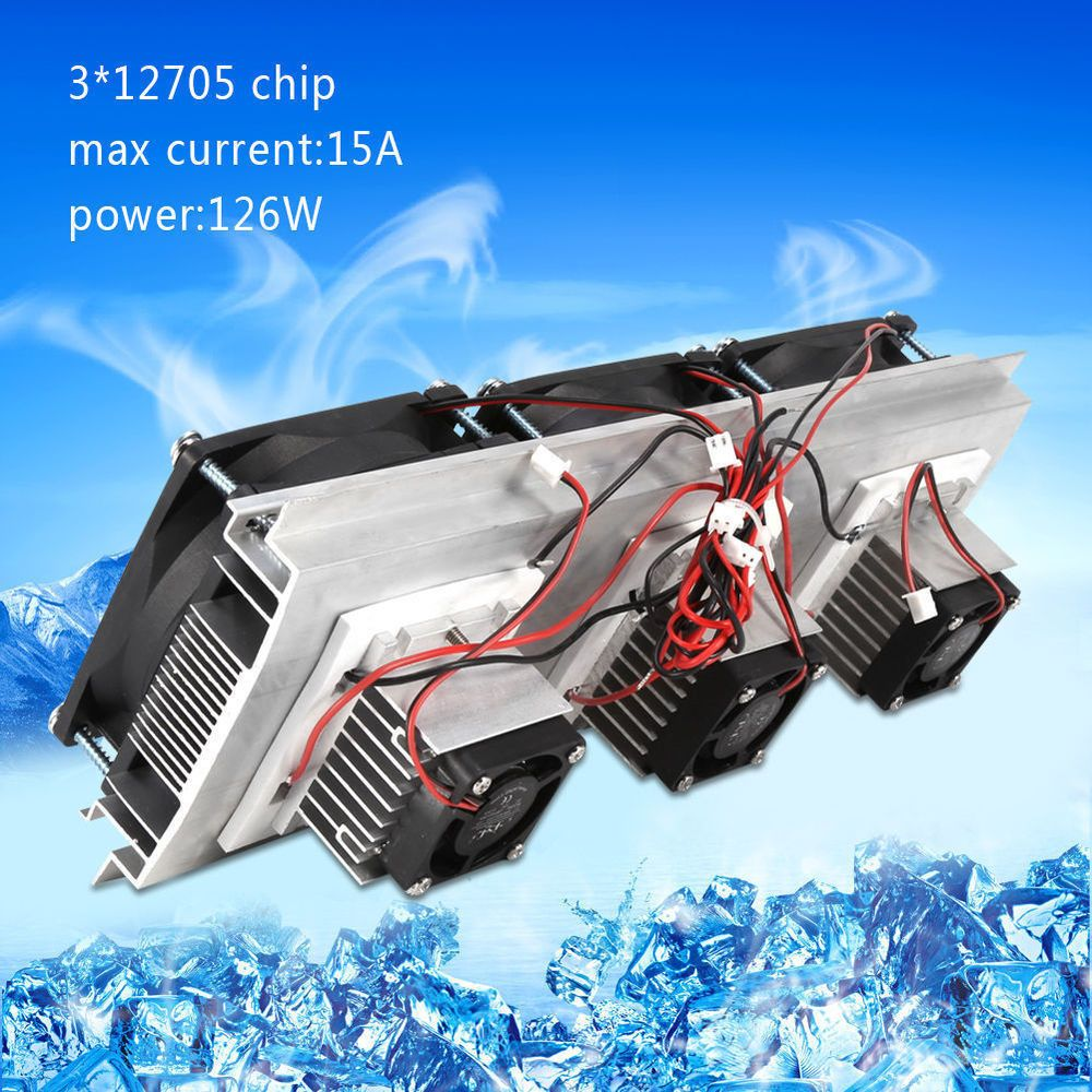 1 Trinuclear Thermoelectric Peltier Refrigeration Air Cooling Kit System Cooler Unbranded Air Cooling System Air Semiconductor
