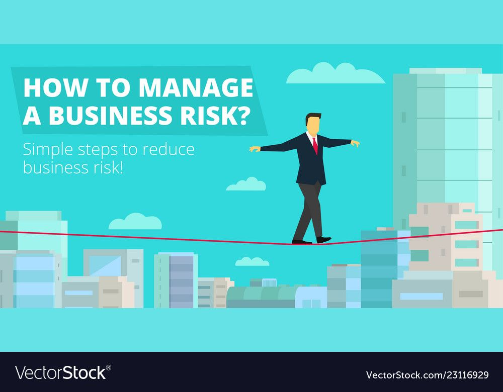 How to manage business risk businessman walking Vector